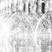 Flash Of Light On Glass Art Print