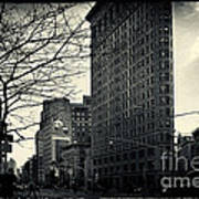 Flat Iron Building Fifth Avenue And Broadway Print by Sabine Jacobs