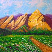 Flat Iron Colorado Art Print