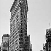 Flat Iron In Black And White Art Print by Bill Cannon