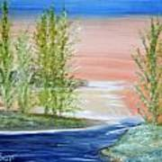 Flathead Lake Sunset Art Print