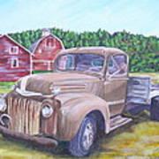 Flathead Monster Truck Art Print