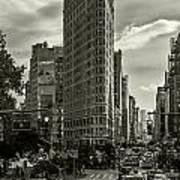 Flatiron Building - Black And White Art Print