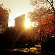 Flatiron Building Sunset - Madison Square Park Art Print