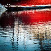 Red Boat Serenity Art Print