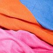 Fleece Material Art Print