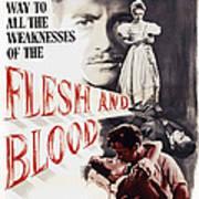 Flesh And Blood, Top L-r Richard Todd Art Print