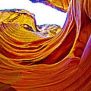 Flexibility Rock In Lower Antelope Canyon Near Page-arizona  Art Print