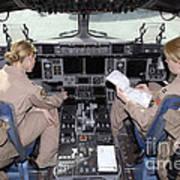Flight Captains Review Flight Art Print