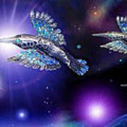 Flight Of The Silver Birds Art Print by Hartmut Jager