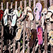 Flip Flops By Jan Marvin Art Print
