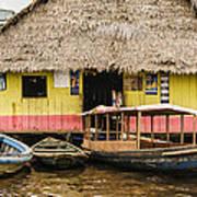 Floating Bar In Shanty Town Art Print