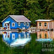 Floating Cabin Art Print