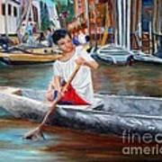Floating City Of Belen Art Print