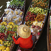 Floating Market Print by Christian Heeb