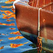 Floating On Blue 11 Art Print