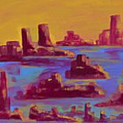 Flooded Canyon Art Print