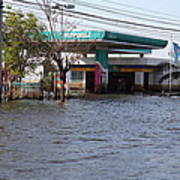 Flooding Of Stores And Shops In Bangkok Thailand - 01133 Art Print
