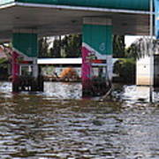 Flooding Of Stores And Shops In Bangkok Thailand - 01135 Art Print