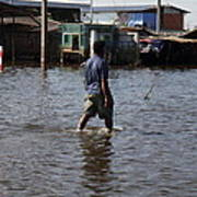 Flooding Of The Streets Of Bangkok Thailand - 01136 Art Print