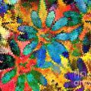 Floral Abstract Photoart Art Print