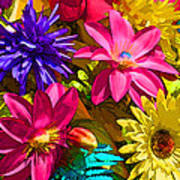 Floral Colors 1 Art Print