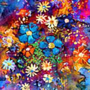 Floral Dance Fantasy Art Print
