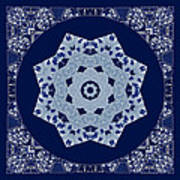 Floral Flow Blues Art Print