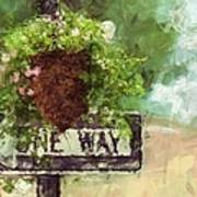 Floral - Flowers - One Way Art Print