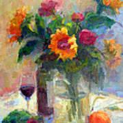 Floral Paintings Fp18 Art Print