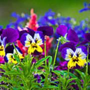 Floral Salad Art Print