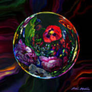 Floral Still Life Orb Art Print