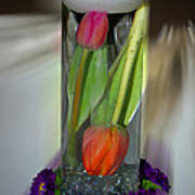 Floral Table Piece Art Print
