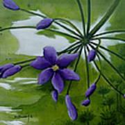 Floral Triptych 3. Art Print