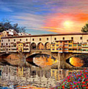 Florence Bridge Art Print