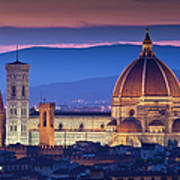 Florence Catherdral Duomo And City From Art Print