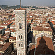 Florence From The Top Of Brunelleschi's Dome Art Print