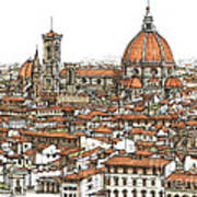 Florence In Colour Art Print