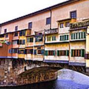 Florence Italy Ponte Vecchio Art Print