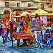 Florence Street Musicians Art Print