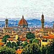 Florence Watercolor Art Print