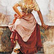 Florentine Flower Girl Art Print