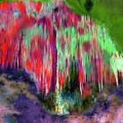 Florescent Cave Art Print