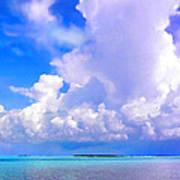 Florida Bay At Shell Pass Filtered Art Print