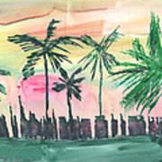 Florida City-skyline3 Art Print