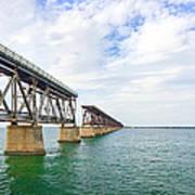 Florida Overseas Railway Bridge Near Bahia Honda State Park Art Print