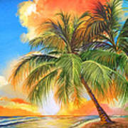 Florida Palm Sunset Art Print