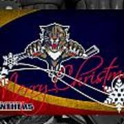 Florida Panthers Christmas Art Print