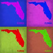 Florida Pop Art Map 1 Art Print