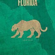 Florida State Facts Minimalist Movie Poster Art  Art Print